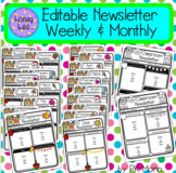 Editable Newsletters - Weekly & Monthly