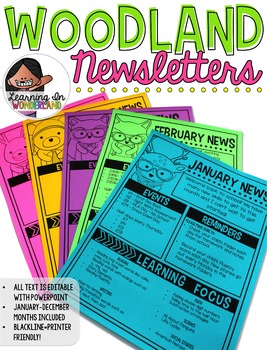 Editable Newsletters {Woodland Critters Edition}