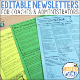 Editable Newsletters for Coaches & Administrators