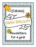 Editable Newsletters for a Year: Castle Banners