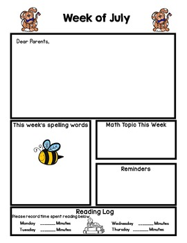 Editable Newsletters for the school year *Jan-Dec*