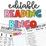 Editable Nightly Reading BINGO-Editable Reading Bingo log