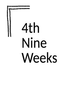 Editable Nine Weeks Dividers/Cover Pages