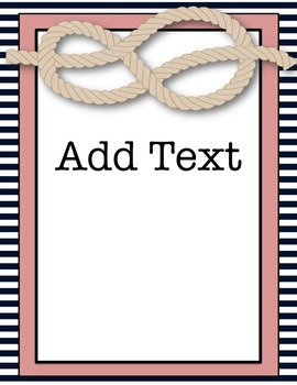 Editable Notebook & Folder Covers (Classic Nautical)