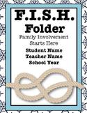 Editable Notebook & Folder Covers (Classic Nautical)