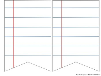 Editable Notebook Paper Banner