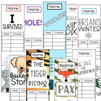 Editable Novel Study Bookmarks