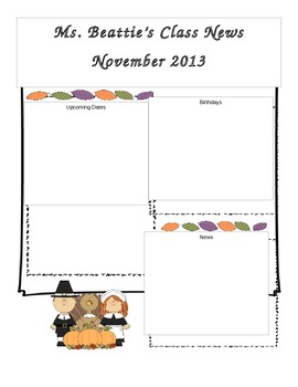 Editable November Newsletter