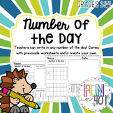Editable: Number of The Day! Morning Work for 3rd and 4th Grade!