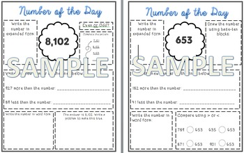 Editable Number of the Day