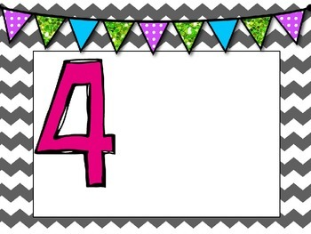 Editable Numbered Signs