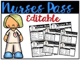 Editable Nurses Pass