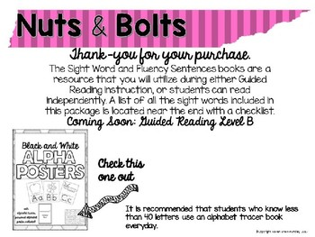 Editable Nuts and Bolts Sight Words