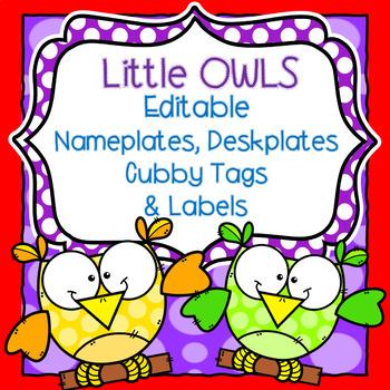 Editable OWL Name Tags, Deskplates,  and Labels