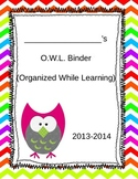 Editable OWL Student Binder