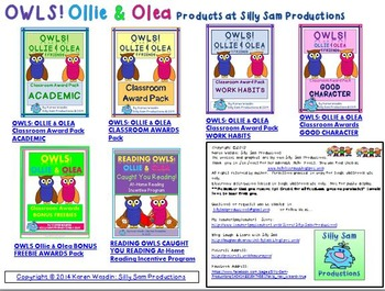 Editable NAME TAGS OWLS! Ollie & Olea Desk Toppers & Posters