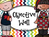 Editable Objective / Focus Wall Headers (chevron, diagonal stripes, polka dots)
