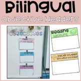 Editable Objective Headers | English & Spanish