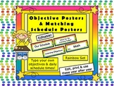 Schedule Cards & Objective Cards - Schedule Wall Posters