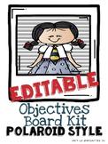 Editable Objectives Board Kit POLAROID STYLE