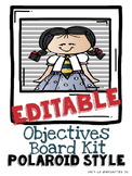 Editable Objectives Board Kit POLAROID STYLE