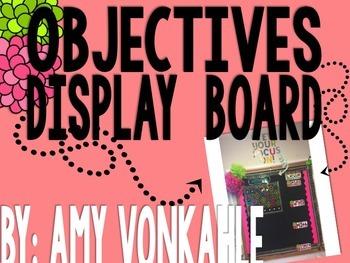 Editable Objectives Display (Focus Wall)