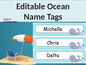 Editable Ocean Name Tags