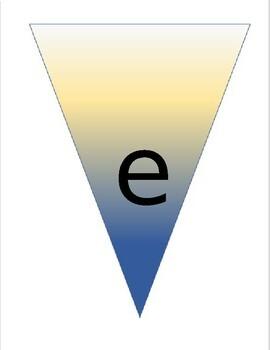 Editable Ocean Pennant Banner