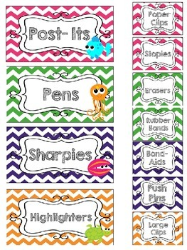 Ocean Teacher Toolbox and Drawer Labels {Editable}