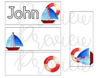 Editable Ocean Theme Name Tags
