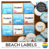 BEACH Editable Classroom Labels + Signs