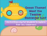 Editable Ocean Themed Meet the Teacher Scavenger Hunt