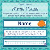 Editable Ocean Themed Name Plates