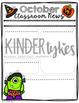 Editable October Classroom Newsletter