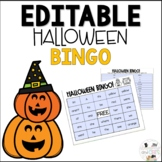Editable October Halloween Sight Word Bingo