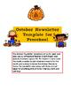 Editable October Newsletter Template for Preschool