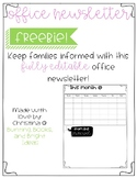 Editable Office Newsletter Template (Freebie!)