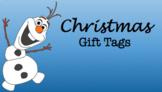 Editable Olaf Christmas Tags