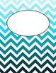 Editable Ombre Chevron Binder Covers / Dividers -- Pack of 12!