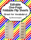 Editable One-Sheet Foldable Flip-Up Template (Perfect for