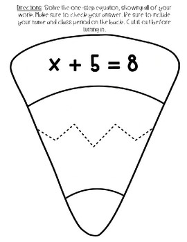 Editable One-Step Candy Corn Equations Activity