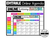 Editable  Online/Distance Learning Agenda/Schedule via Goo