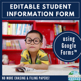 Editable Online Forms or Questionnaire for Pre-K Parents: Google Forms™