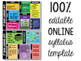 Editable Online/Virtual Classroom Syllabus Template: Back