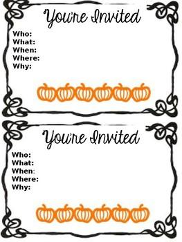 Editable Open House/Awards Day Parent invites-- a design for each season!