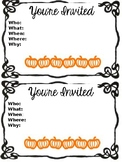 Editable Open House/Awards Day Parent invites-- a design f