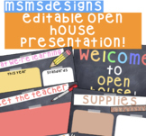 Editable Open House/Back to School Presentation!
