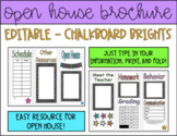 Chalkboard Brights Open House Brochure | Editable