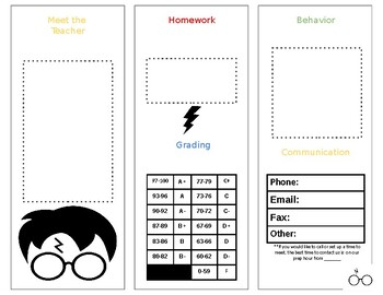 Editable Open House Brochure (Harry Potter)