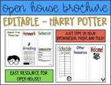 Harry Potter Open House Brochure | Editable